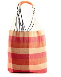 South Moon Under - Striped Twill Rope Handle Tote Bag - Lyst
