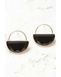 South Moon Under - Gemstone Half Circle Earrings - Lyst