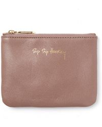 South Moon Under - Sip Sip Hooray Betty Leather Pouch - Lyst
