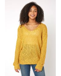 South Moon Under - V Neck Knot Back Sweater - Lyst