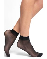 Look From London - Shimmer Lurex Ankle Socks - Lyst