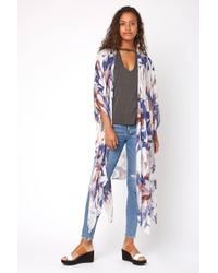 South Moon Under - Exploded Floral Duster Kimono - Lyst