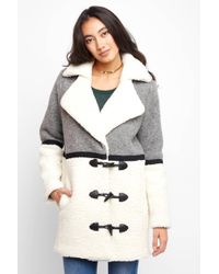 Plenty by Tracy Reese - By Tracy Reese Faux Shearling Combo Coat - Lyst