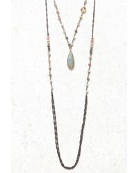 South Moon Under - Beaded Multi Layer Labradorite Drop Necklace - Lyst