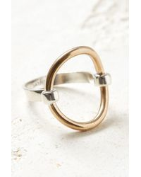 South Moon Under - Bronze Open Circle Ring - Lyst