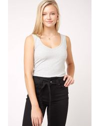 South Moon Under - Tie To Keep Up Stripe Tie Back Tank Top - Lyst