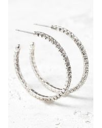 South Moon Under - Cubic Zirconia Hoop Earrings - Lyst