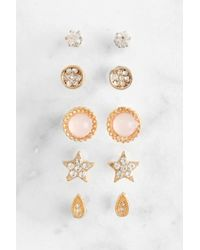 South Moon Under - Set Of Gold Stud Earrings - Lyst