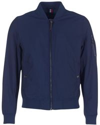 Tommy Hilfiger - Brody Bomber Men's Jacket In Blue - Lyst