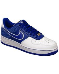 Lyst Instructores Nike Air Force 1 07 Zapatos De Hombres Instructores Lyst En Blanco En Blanco 0676d3