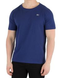 Tommy Hilfiger - Men's Rubber Logo T-shirt, Blue Men's T Shirt In Blue - Lyst