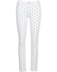 Moony Mood - Ceco Women's Trousers In White - Lyst
