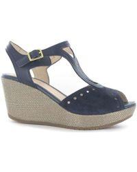 Stonefly - 108311 Wedge Sandals Women Blue Women's Sandals In Blue - Lyst