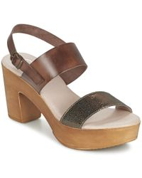 Casual Attitude - Loniko Women's Sandals In Brown - Lyst