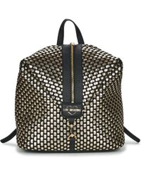 Love Moschino - Jc4294pp07 Women's Backpack In Gold - Lyst