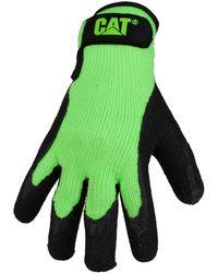 Caterpillar - Cat 17417 Latex Palm Glove hommes Gants en vert - Lyst