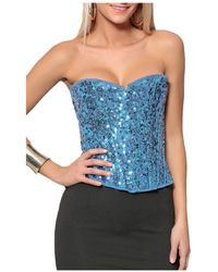 Infinie Passion - Corset 00w029223 Women's Blouse In Blue - Lyst