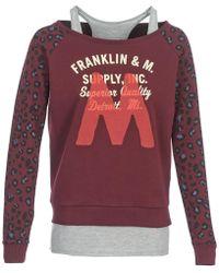 Franklin & Marshall | Manteco Women's Sweatshirt In Red | Lyst