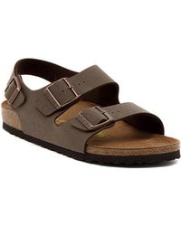 Birkenstock - Milano Mocca Men's Sandals In Brown - Lyst