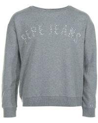 Pepe Jeans - Georgette Grey Marl Women's Jumper In Grey - Lyst