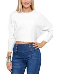 Infinie Passion - Jumper White Woman Autumn/winter Collection 17 Women's Sweatshirt In White - Lyst