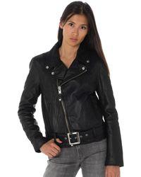 Schott Nyc - LCW8618 BLACK femmes Veste en Noir - Lyst