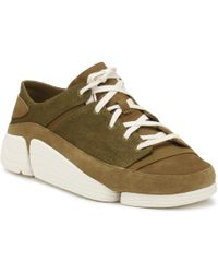 Clarks - Mens Olive Trigenic Evo Trainers Men's Shoes (trainers) In Green - Lyst