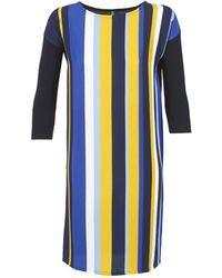 Benetton - Vagoda Women's Dress In Blue - Lyst