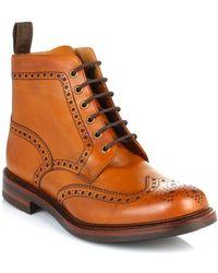 Loake - Mens Tan Bedale Leather Brogue Boots hommes Boots en Marron - Lyst