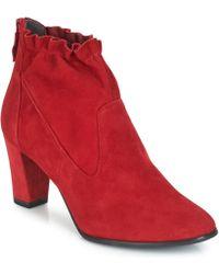 Tamaris - Esmeralda Women's Low Ankle Boots In Red - Lyst