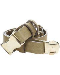 McQ - 313112 Women's Belt In Green - Lyst