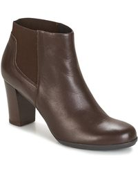 Geox - D Annya Women's Low Ankle Boots In Brown - Lyst