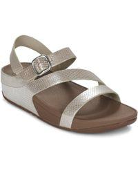 Fitflop - The Skinny Zcross Sandal Women's Sandals In Silver - Lyst