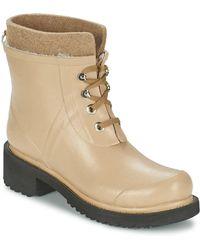 Ilse Jacobsen - Rub62 Women's Wellington Boots In Beige - Lyst
