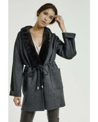 Max & Moi - Coat Nymphea Grey Woman Autumn/winter Collection Women's Coat In Grey - Lyst