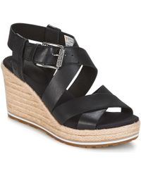 Timberland - Nice Coast Cross Strap Women's Sandals In Black - Lyst