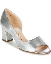 581c7cf01704 Tory Burch Elana Metallic 85mm Sandal in Metallic - Lyst