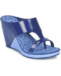 Zaxy - Glamour Top Iii Women's Flip Flops / Sandals (shoes) In Blue - Lyst