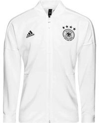 adidas - 2018-2019 Germany Zne Knitted Anthem Jacket Men's Sweatshirt In White - Lyst