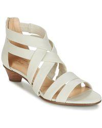 Clarks - Mena Silk Women's Sandals In White - Lyst
