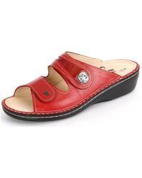 Finn Comfort - Miras Redflamme Veneziaknautschlack Women's Mules / Casual Shoes In Red - Lyst