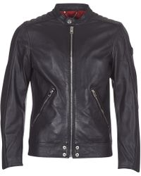 DIESEL - L Squad Leather Jacket - Lyst