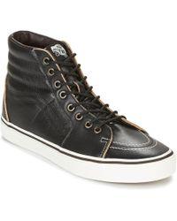 6bf8780a57 Vans Sk8 Hi Lite Men s Shoes (high-top Trainers) In Black in Black ...