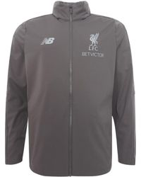 26faee661d6 New Balance - 2018-2019 Liverpool Mens Precision Rain Jacket Men s Jacket  In Grey -