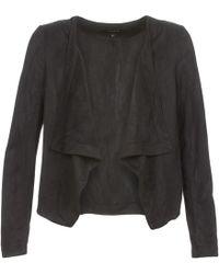 Vila - Visimply Women's Leather Jacket In Black - Lyst
