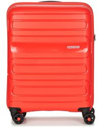American Tourister - Sunside 55cm 4r Men's Hard Suitcase In Red - Lyst