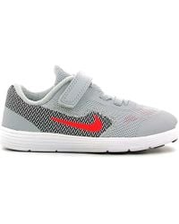 Nike - 819415 Sport Shoes Kid Grey/dk Gry Women's Shoes (trainers) In Grey - Lyst