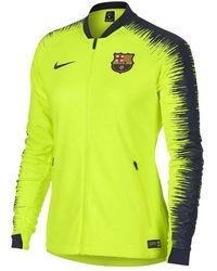 25bd690ba Nike - 2018-2019 Barcelona Authentic Franchise Jacket (volt) - Womens Men s  Sweatshirt
