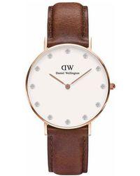 Daniel Wellington - - Classic Sheffield - 34mm - Rose Gold Men's Watch In Brown - Lyst