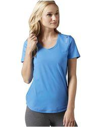 Reebok - Wor Sw Tee Women's T Shirt In Blue - Lyst